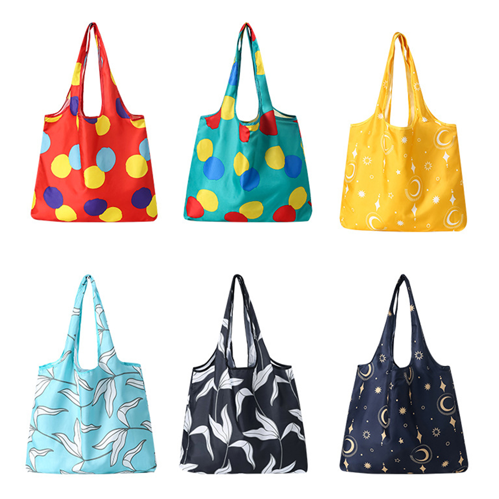Grocery Bag Reusable Foldable Shopping Bag Large Multi-Purpose Tote Bags Eco-Friendly Shopping Bags with Long Handles