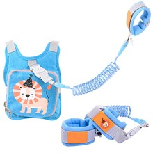 2 In 1 Toddler Leashes Baby Walker Anti-Lost Wrist Link With Lock Safety Harness Baby Strap Rope Vest Children Walking Hand Belt