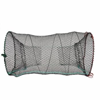 Wędkowanie obsada sieci ryby krab pułapka sieci klatki krewetki siatki nylonowe automatyczna klatka rybacka składana pułapka obsada netto składane tanie i dobre opinie CN (pochodzenie) Żyłka Drobna siatka 45 60 80 85CM Pojedyncze Żak Sieci rybackie