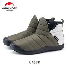 Мужские и женские уличные ботинки Naturehike, теплые сверхлегкие сапоги из хлопка, водонепроницаемая нескользящая обувь на резиновой подошве, д...