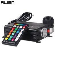 جهاز التحكم عن بعد بـ 24 مفتاح يعمل بالتحكم عن بعد يعمل بالألياف الضوئية 16 واط RGBW-في أضواء الألياف البصرية من مصابيح وإضاءات على