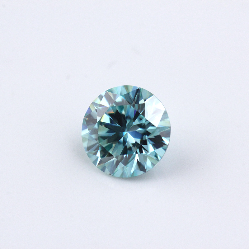 Moissanite Promotion 1ct 6.5mm VVS1 Excellent Cut Grade Test Positive Round Brilliant Cut Blue Color Moissanite Discount Price
