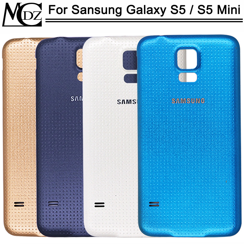 For Samsung Galaxy S5 I9600 S5 Mini G800 Battery Cover Rear Back Door Glass Housing Case