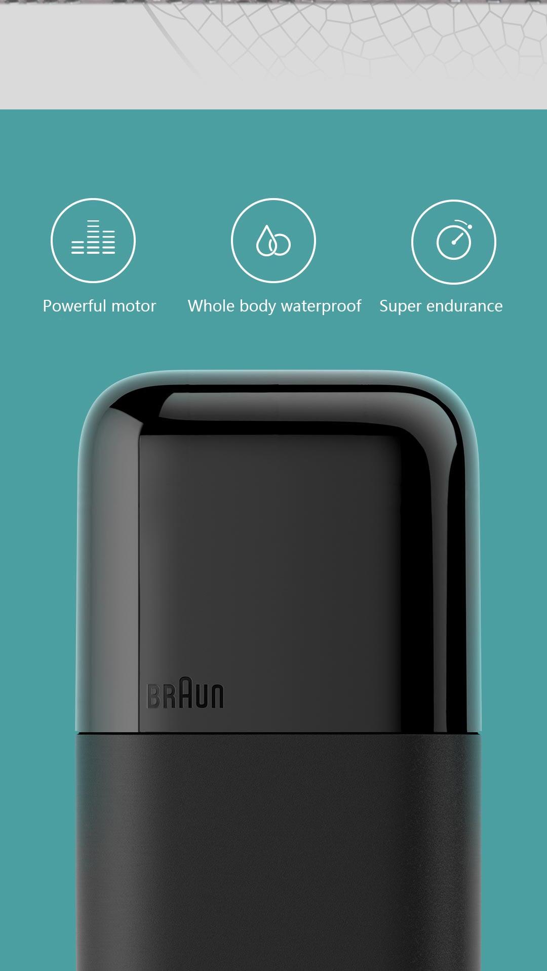 Xiaomi mijia braun barbeador elétrico super vida