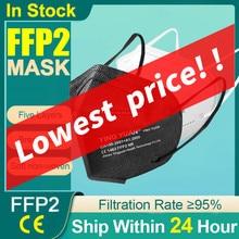 Ce ffp2 máscara de segurança poeira 5 camadas respirador kn95mask rosto protetor kn95 máscaras boca reutilizável fpp2 fpp3 ffp3