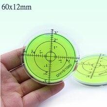 Универсальный зеленый круговой уровень пузырьковый бычий спиртовой уровень пузырьковый круглый пузырьковый уровень измерительные приборы Инструмент 60X12 мм