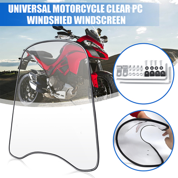 2mm/3mm Thick Universal Motorcycle Wind Cold Deflector Clear Transparent PC Plate Scooter Windshield Windscreen Wind Deflect
