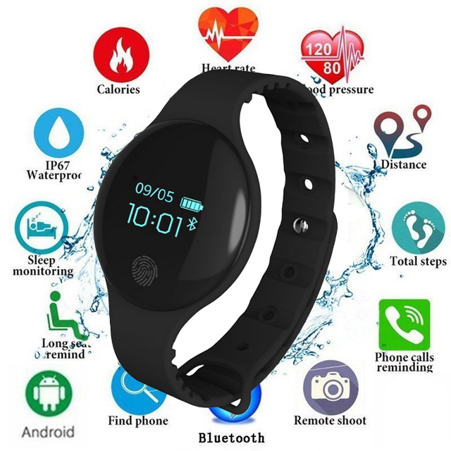 Color Touch Screen Smartwatch Motion detection Smart Watch Sport Fitness Men Women Wearable Devices For IOS Android KidsChildren