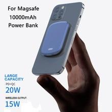15w magnético sem fio de carregamento pd20w ímã power bank para iphone 12 pro max 12mini 10000mah bateria externa magsafe powerbank