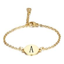 Round titanium steel letter ladies fashion bracelet gold carved titanium steel letter bracelet ladies fashion jewelry silica gel fret titanium steel bracelet