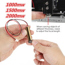 цена на 1000mw/1500mw/2000mw 405nm laser module head for neje laser engraving machine laser-engraver necessary accessory for DIY carving