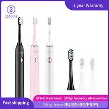 SOOCAS FR code:FRPA32807 – brosse à dents électrique sonique, pour Xiaomi, ultrasonique, automatique, mise à niveau, charge rapide, étanche, pour adulte