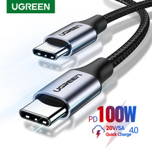 Ugreen USB C to USB Type C for Samsung S20 PD 100W 60W Cable for MacBook iPad Pro Quick Charge 4.0 USB-C Fast USB Charge Cord