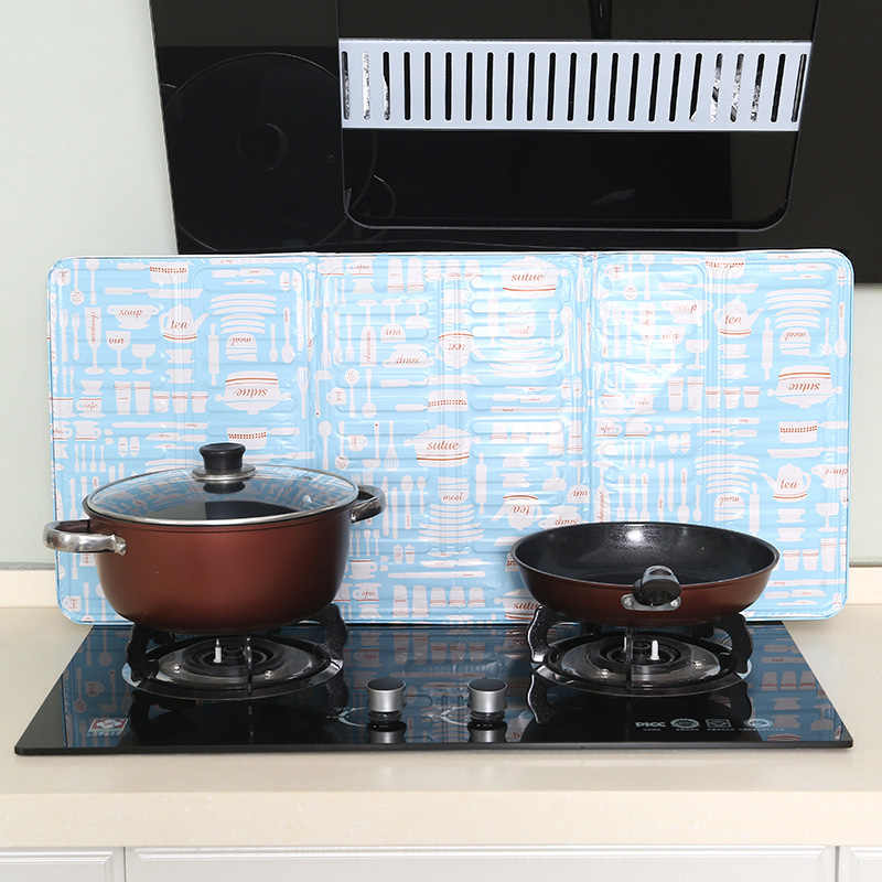SNOWINSPRING 2PCS Kitchen Oil-Proof Baffle High-Temperature Stove Oil Baffle Foldable Anti-Shallow Oil Board