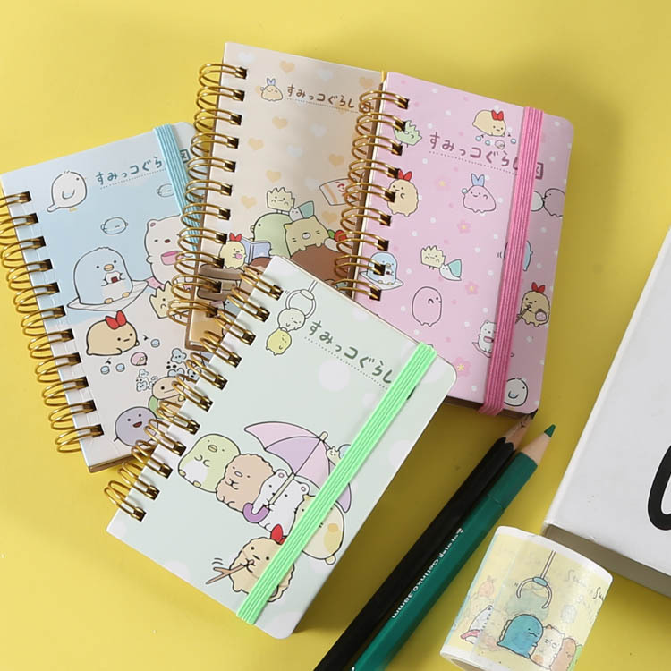 Book  Pages  Stickers Corner Bio Cartoon Strap Coil Notebook Student  Notebook J01 WJ01