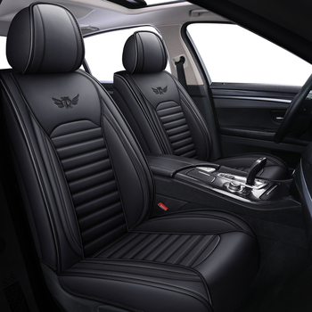 leather black red car seat cover For peugeot 301 307 sw 508 sw 308 206 4007 2008 5008 2010 3008 2012 107 206 accessories image