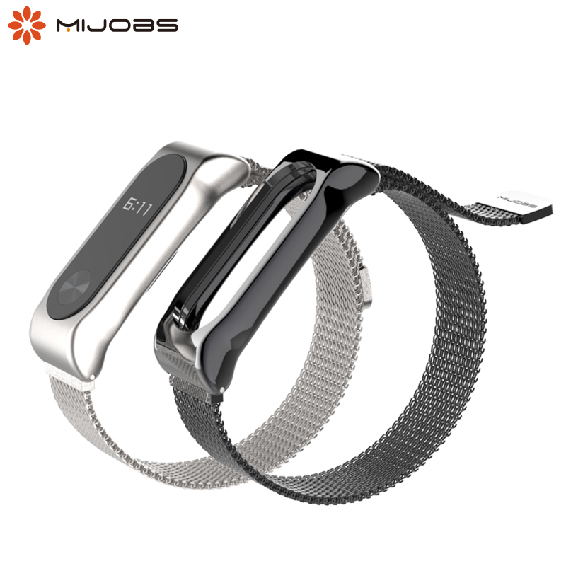 For Mi Band 2 Strap Bracelet Accessories Pulseira Miband Replacement Stainless Steel Wrist Strap  For Xiaomi Mi Band