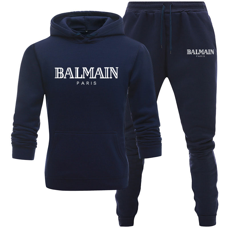 Men Women Unisex 2 Piece Set Hoodie Pants Print Sportswear Pullover Sweatshirt Trousers two piece set Tracksuit Suits
