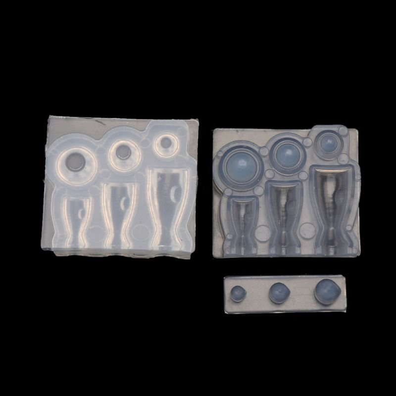 DIY Mini Size Goblet Glass Cup Plate Bowl Resin Mold Candy Toy Art Craft Making Tools