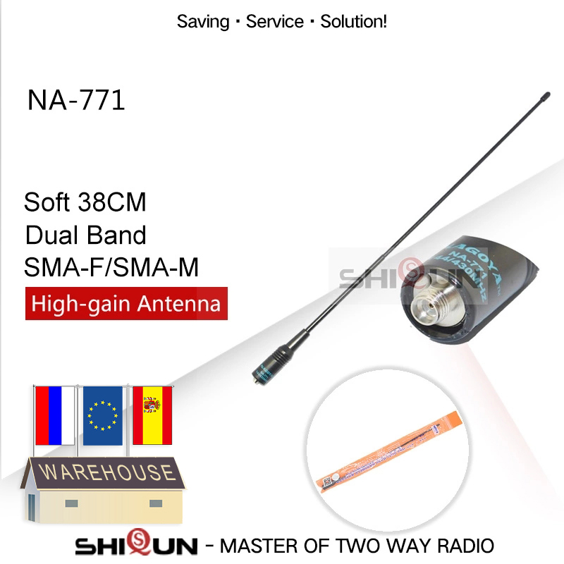 NAGOYA NA-771 Dual Band Baofeng Antenna VHF/UHF SMA-Female SMA-Male For Handheld Radio Baofeng UV-5R UV-82 BF-888S H-777 UV 5RA
