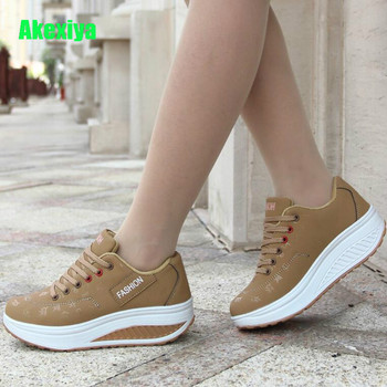 Hot Women Sneakers 2019 Breathable Waterproof Wedges Platform Vulcanize Shoes Woman Pu Leather  Casual  tenis feminino shoes woman 2020 pu leather breathable sneakers women shoes waterproof wedges platform shoesladies casual shoes women sneakers