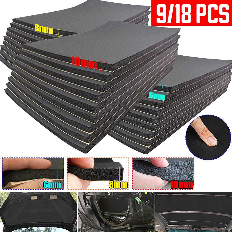 30 50cm 6 8 10mm Car Sound Heat Insulation Cotton Mats Engine Bonnet Deadening Firewall Noise Proofing Deadener Anti-noise Pads