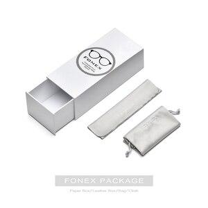 Image 5 - Fonex armação de titânio puro, unissex, polarizado, óculos de sol feminino, quadrado, ótico 503