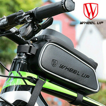 Wheelup Waterproof Bicycle Front Bag MTB Road Bike Top Tube Frame Handlebar Touch Screen Bag 6 Inch Cycling Pouch Phone Bag cbr outdoor cycling bike touch screen top tube bag black grey