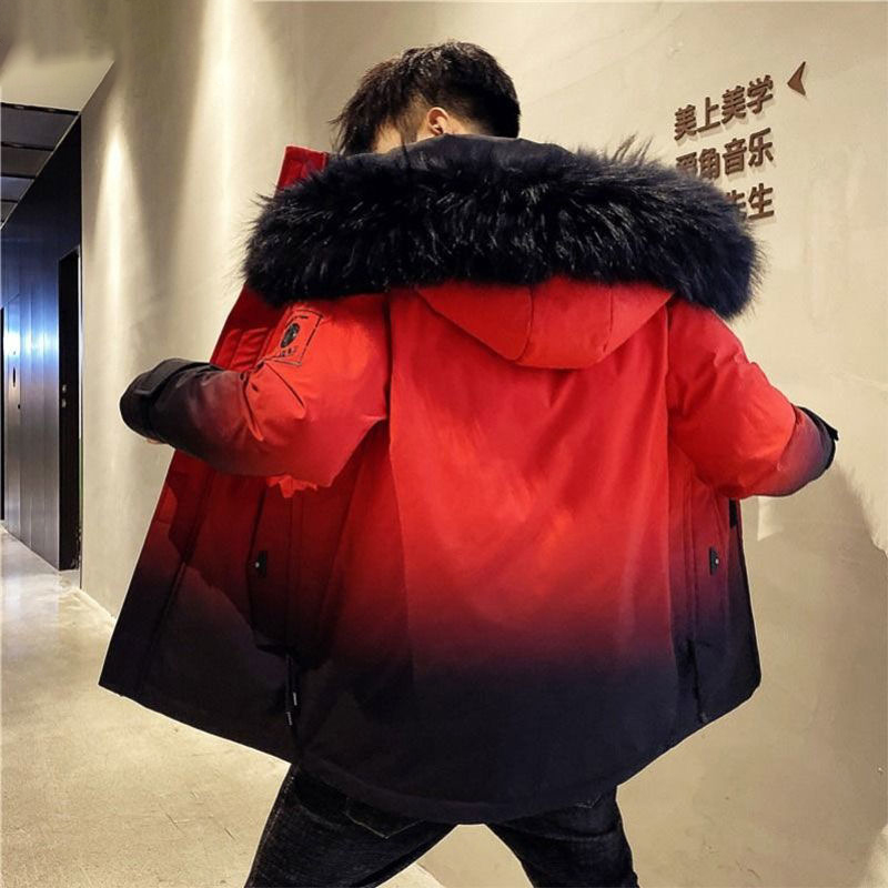 Men Winter New Warm Casual Fur Hooded Jacket Parkas Men Outdoor Fashion Warm Thick Pockets Army Coat Parkas Men