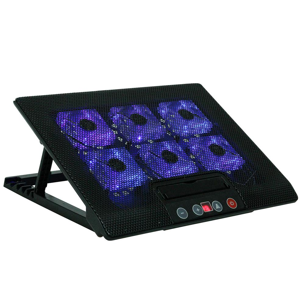 Laptop Cooling Pad <font><b>Notebook</b></font> <font><b>Stand</b></font> 6 Fans Cooler fits <font><b>17</b></font> inches for Laptop PC Computer USB Fan Cooling Pad image