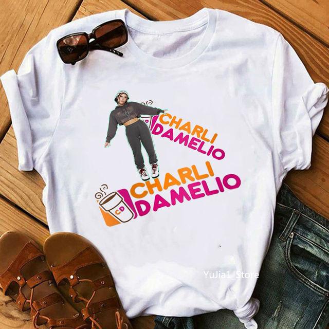 CHARLI D'AMELIO THEMED T-SHIRT (7 VARIAN)