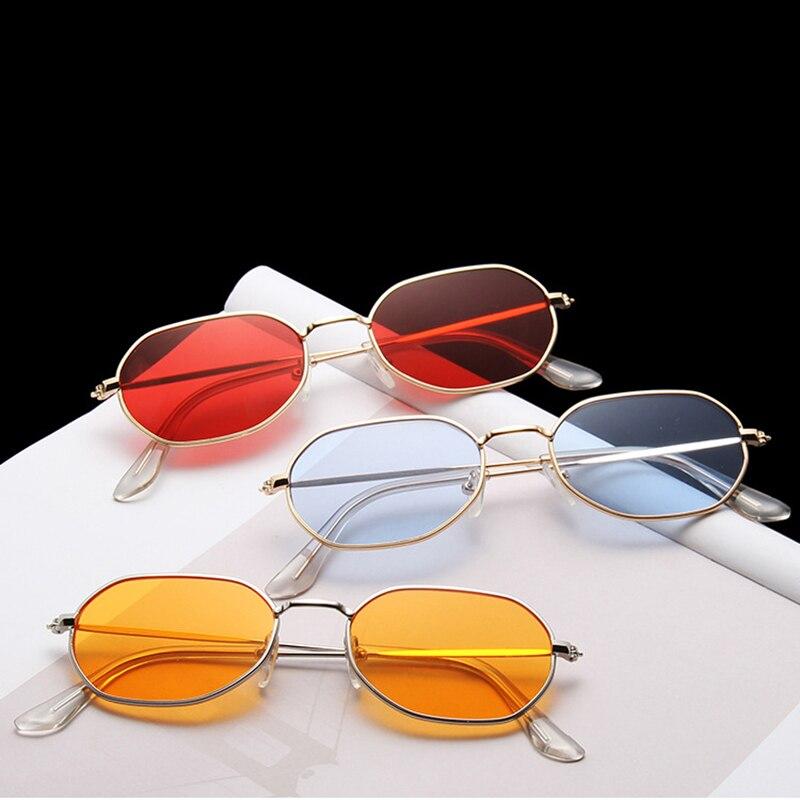 Curtain Sunglasses New Trend Fashion Small Polygon Metal Frame UV400 Colorful Sun Glasses For Men Women A80