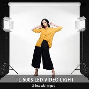 Image 5 - ספאש TL 600S 2 סטי סטודיו אור LED וידאו אור עבור Youtube לירות 600 חרוזים 25W CRI90 תמונה מנורת עם 200cm חצובה סוללה
