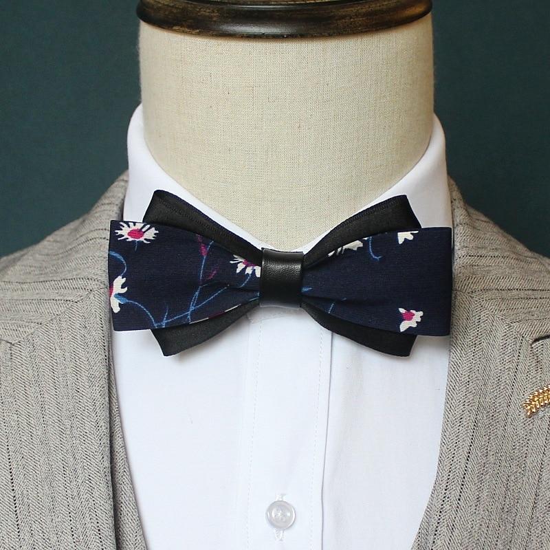 Handmade British Style Lattice Bowtie Necktie For Men Bow Ties Suit Shirt Formal Wedding Multi-layer Collar 12*6 CM Accessories