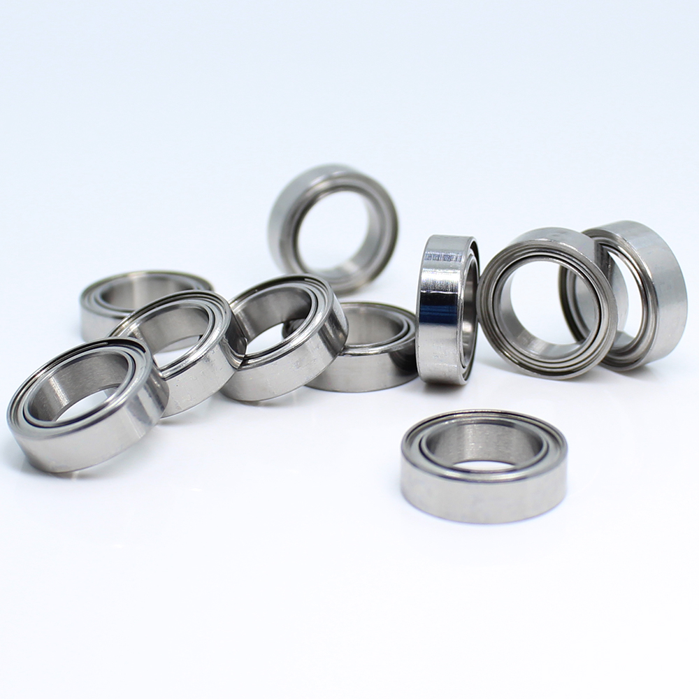 <font><b>MR128ZZ</b></font> Ball Bearing 8x12x3.5 mm 10Pcs ABEC-5 Miniature Metric Chrome Steel L-1280ZZ W678ZZA MR128 Z ZZ Bearings MR128Z image