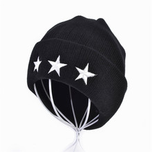 3D Five-pointed Star Embroidery knitted hat Fashion winter warm wool crochet hat For Men & Women Leisure Skullies Beanies Cap недорго, оригинальная цена