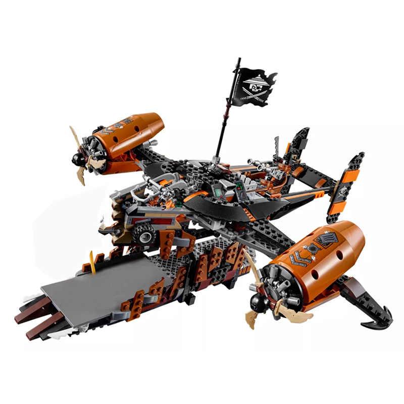 10462 Ninjago Movie legoinglys Ninjago Супер Герои против неба Пираты невзгод держать строительные блоки реактивный самолет игрушки для детей