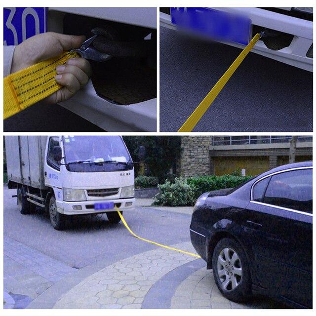 3 Meter Heavy Duty Auto Sleepkabel Towing Trektouw Strap Haken Van Road Recovery Eagle Haak/U- hook Towing Touwen