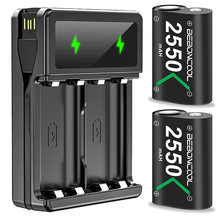 2 предмета 2550 мА/ч Батарея для xbox one / s/xbox x/xbox серии