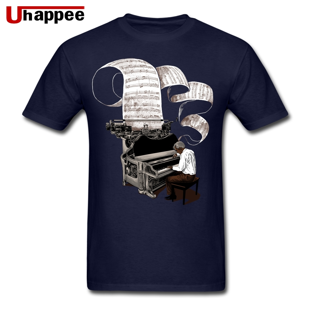 Hip Hop T Shirts Composer Music Note Piano Pianist Homme Best Fit Short Sleeve Color Print Tee Group Large and Tall Clothing image
