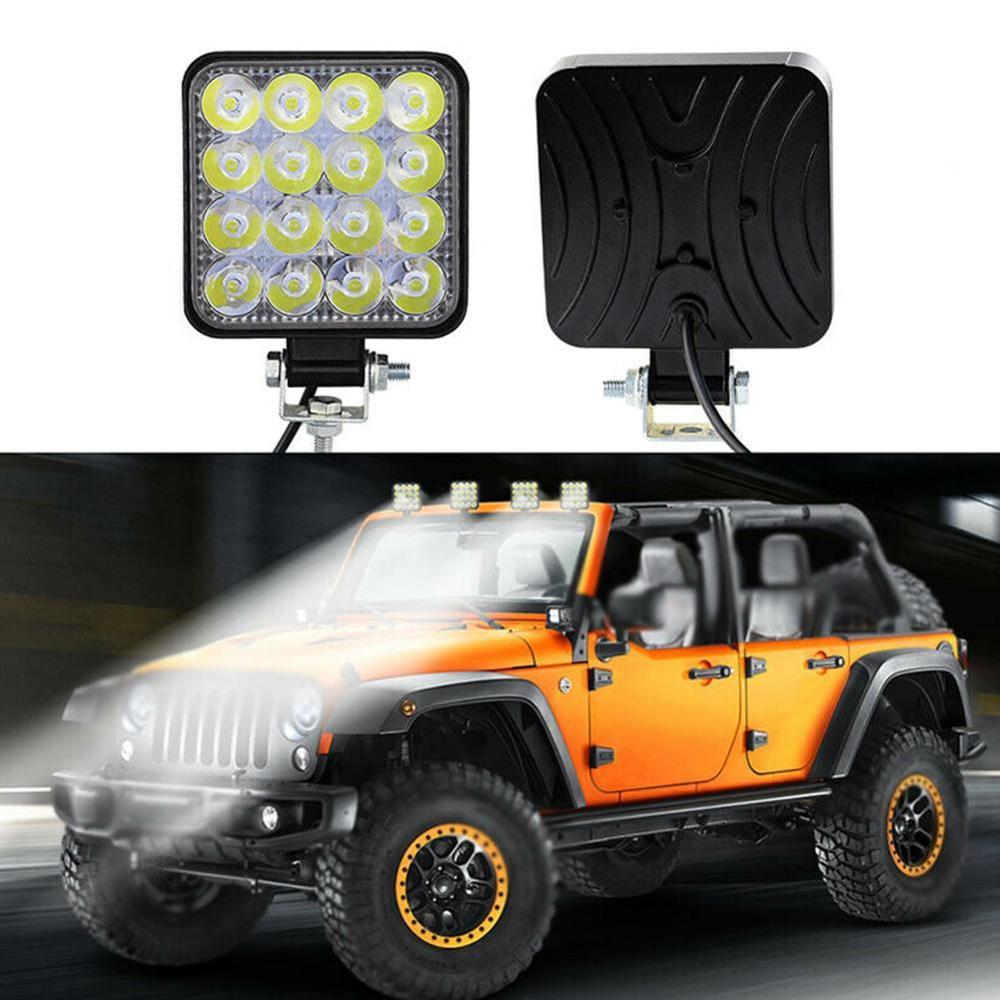 4inch 10cm 27W Offroad Car 4WD Truck Tractor Boat Trailer 4x4 SUV ATV 12V Spot Flood LED Light Bar LED Work Light