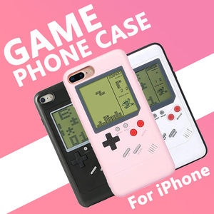 Retro Screen Video Game Boy Phone Cases for iPhone 6 6s 7 8 Plus X XS XR 11 Pro Max Case Silicone Tetris Pink Cover White Black(China)