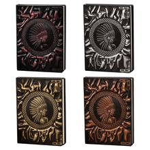 New Indian Girl Embossed A6 Leather Notebook Journal Notepad Travel Diary Planner 13.5x10cm(China)