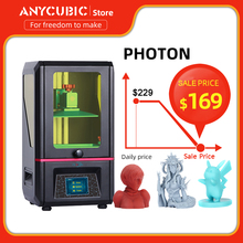 ANYCUBIC Photon 3d Printer Touch Screen Plus Size Desktop Off Line Print SLA 3d Printer Kit UV Resin impresora 3d impressora