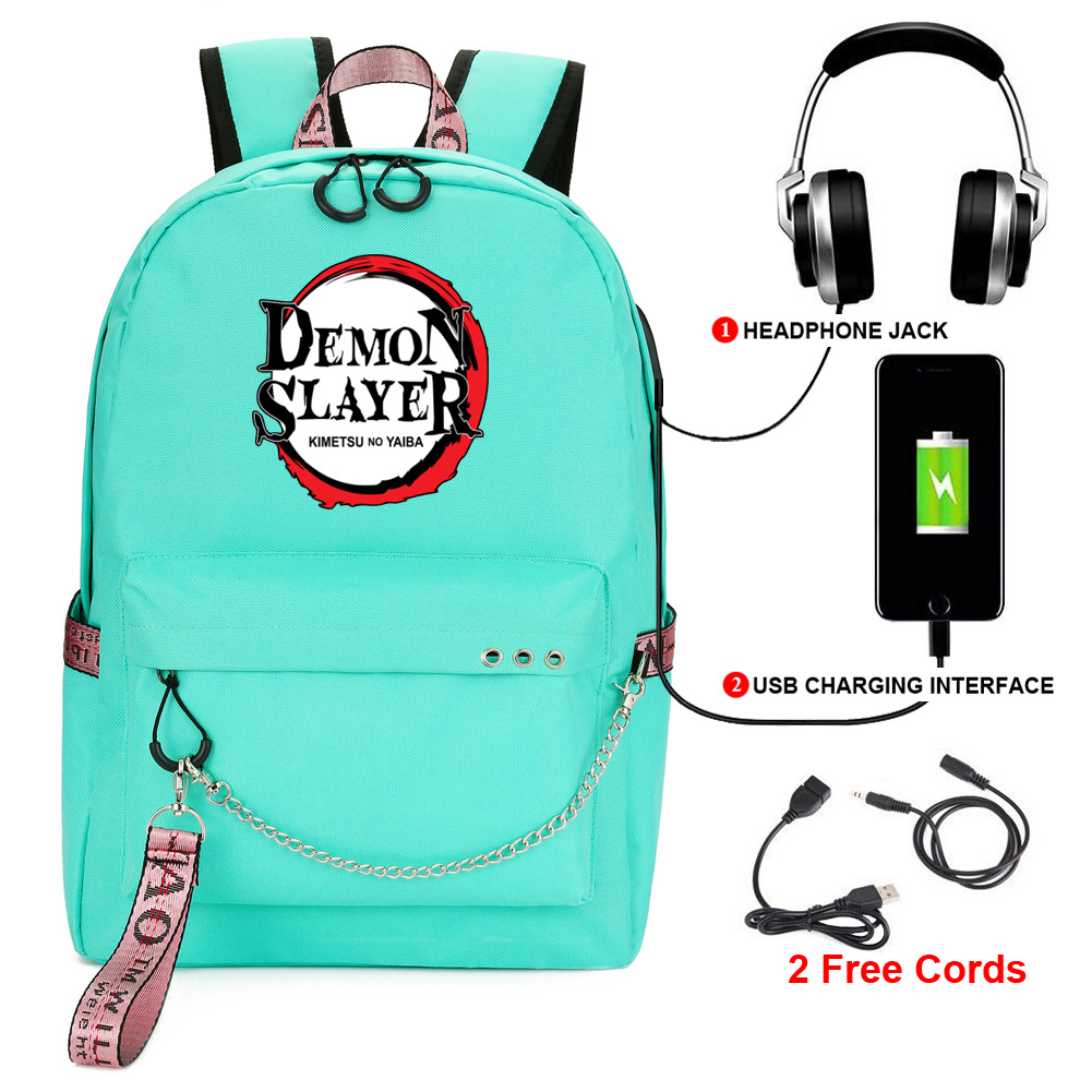 Купить demon slayer: kimetsu no yaiba backpack student kids school