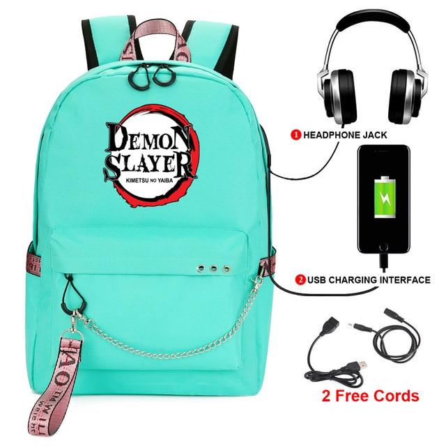 Фото demon slayer: kimetsu no yaiba backpack student kids school цена