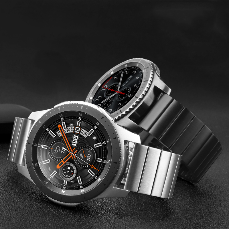 20 мм/22 мм браслет из нержавеющей стали для Samsung Galaxy watch 3/46 мм/42 мм/Active 2/Gear S3 Frontier браслет Huawei GT-2-2e-pro ремешок