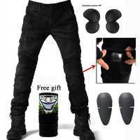 2019 New Motorcycle Pants Men Moto Jeans Protective Gear Riding Touring Motorbike Trousers Motocross Pants 06 black Moto Pants