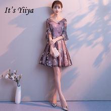 Платья для выпускного вечера с v образным вырезом it's yiiya