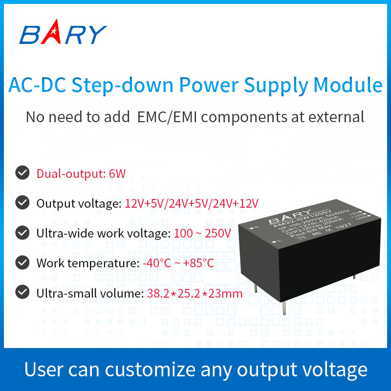 <font><b>AC</b></font>-<font><b>DC</b></font> Buck <font><b>Module</b></font>|Dual Output|110V~<font><b>220</b></font> To 12V+<font><b>5V</b></font> 24V+<font><b>5V</b></font> 24V+12V |Switch Power Supply <font><b>Module</b></font>|Isolated Power Supply|Smart Home image